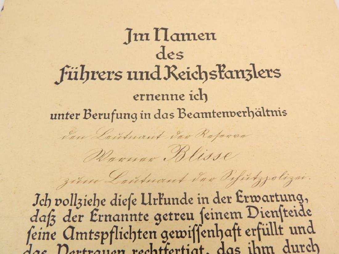 Heinrich Himmler WW2 German Signed Identified Promotion - 5