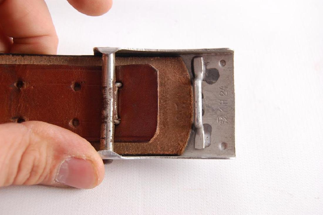 WW2 German Labor Corp Belt and Buckle - 4