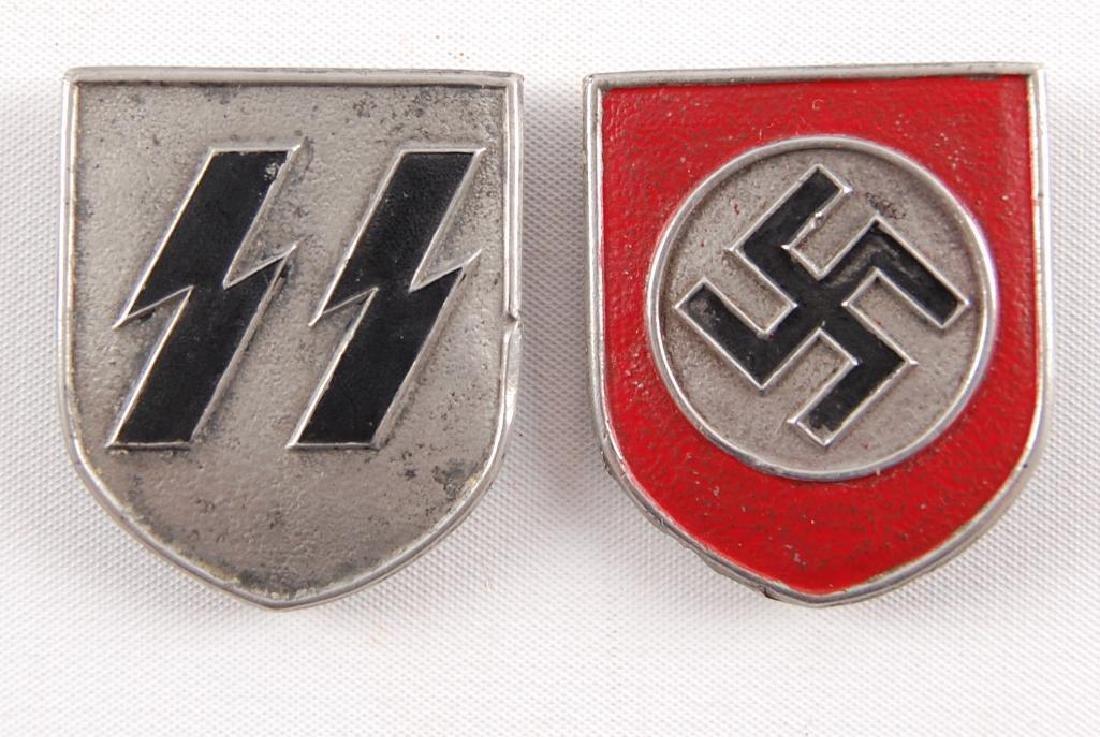 WW2 German SS Pith Helmet Shields