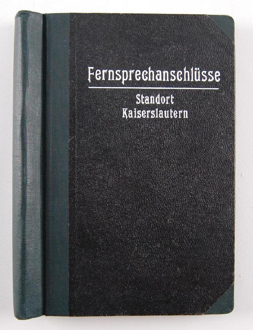 WW2 German Phone Book
