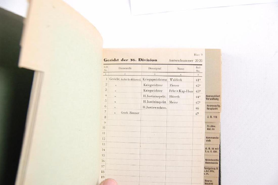 WW2 German Phone Book - 3