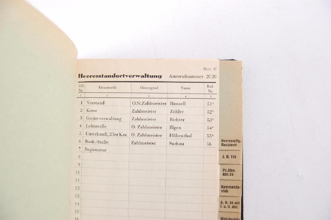 WW2 German Phone Book - 4