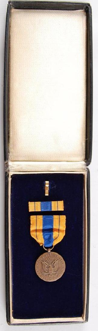 U.S. Army Selective Service Medal with Bar and Case