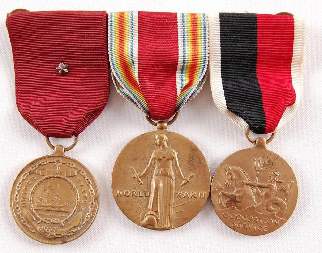 WW2 U.S. Army Ribbon Bar with Medals
