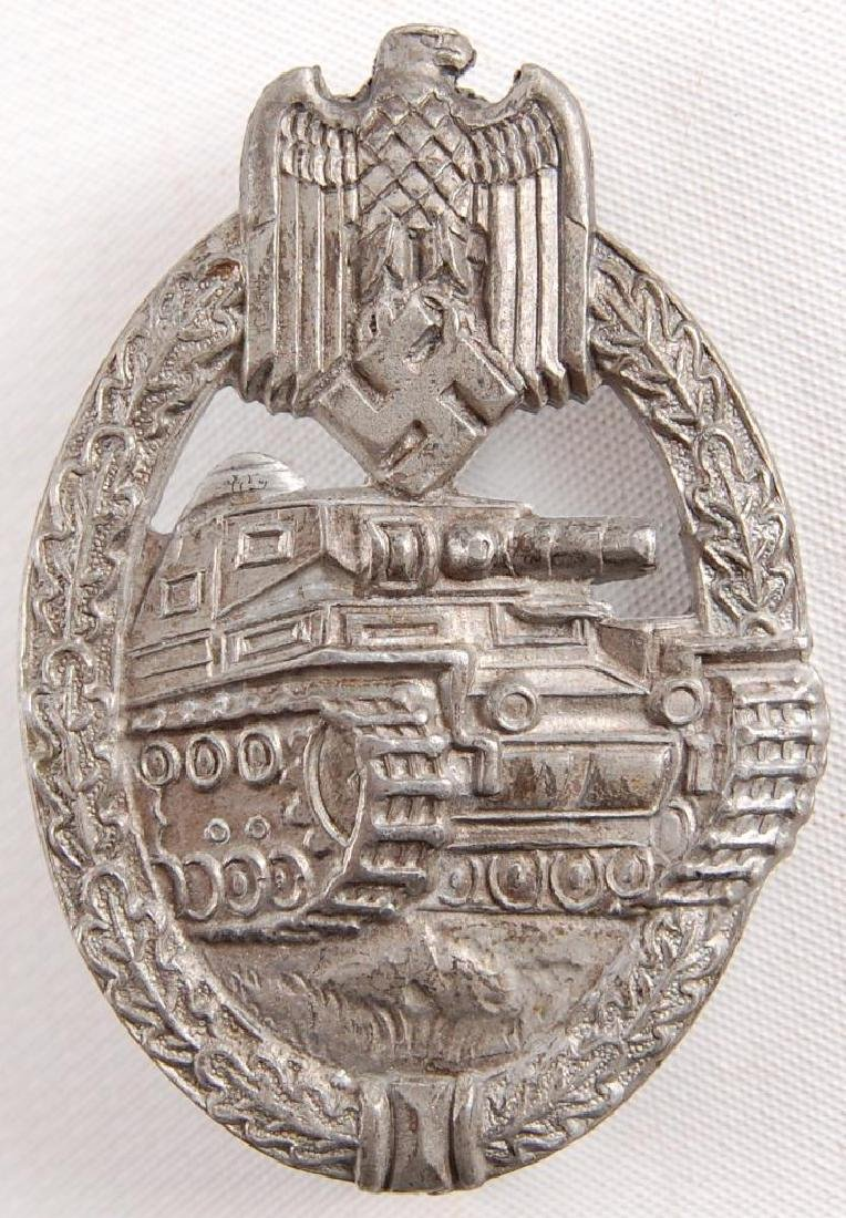 WW2 German Panzer Assault Badge in Silver