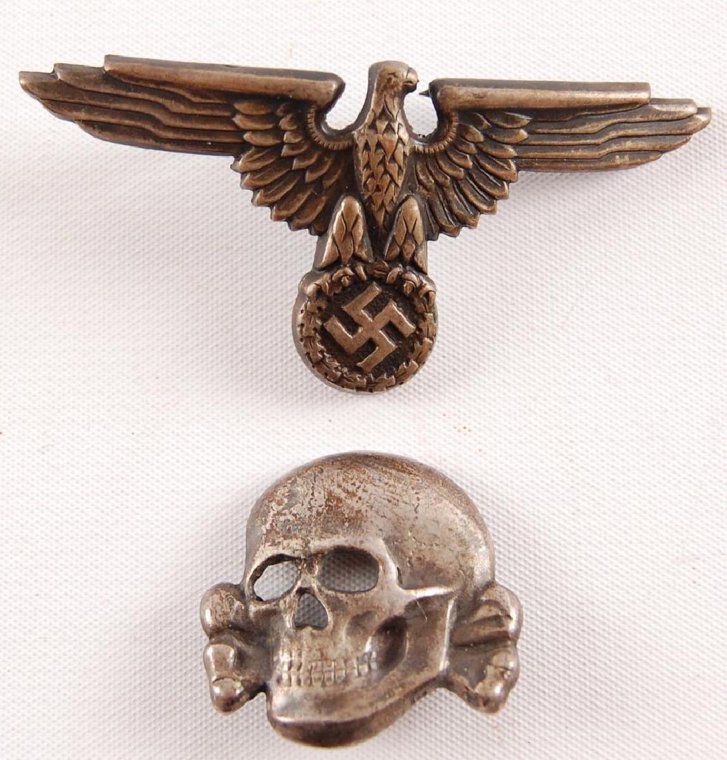 Set of WW2 German SS Visor Cap Badges