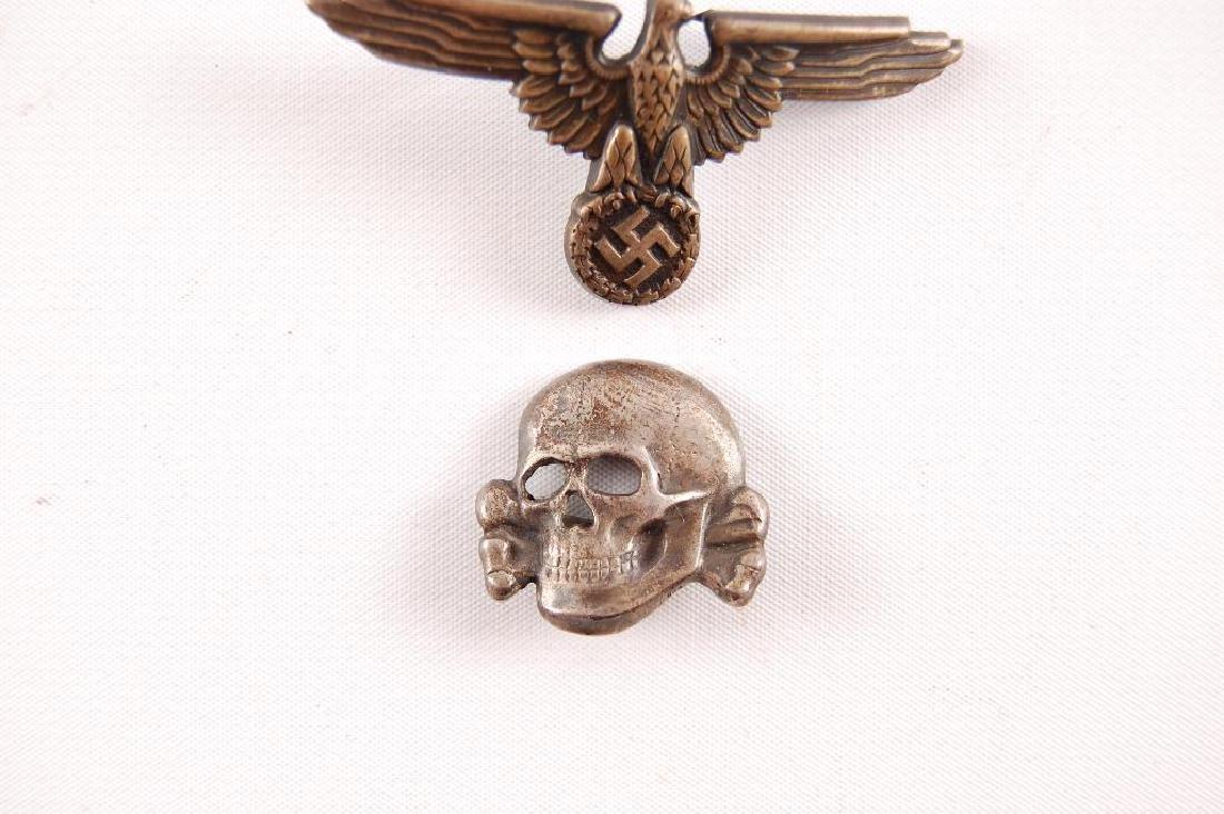 Set of WW2 German SS Visor Cap Badges - 2