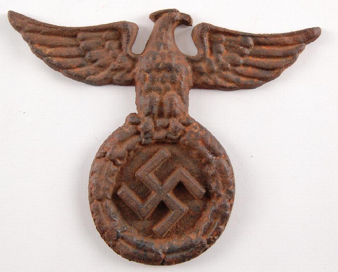 WW2 German Cast Iron Eagle and Swastika Wall Plaque