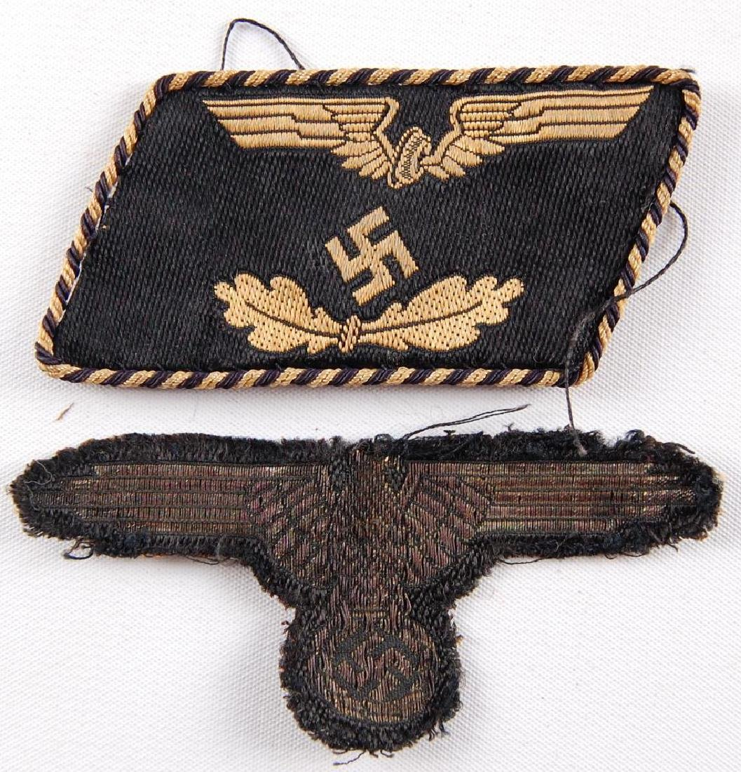 WW2 German SS Sleeve Eagle and Railway Patches