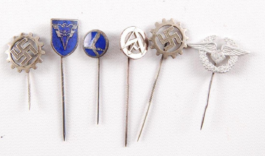 Group of 6 WW2 German Stick Pins