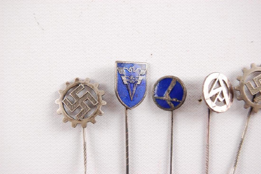 Group of 6 WW2 German Stick Pins - 2