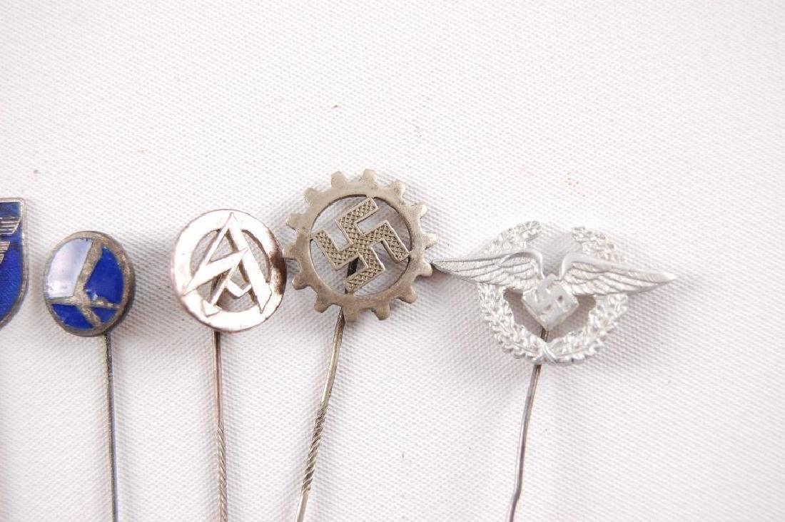 Group of 6 WW2 German Stick Pins - 3