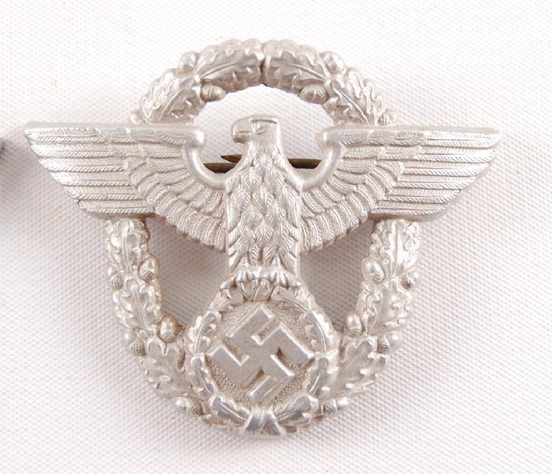 Group of 2 WW2 German Cap Eagle Badges - 2