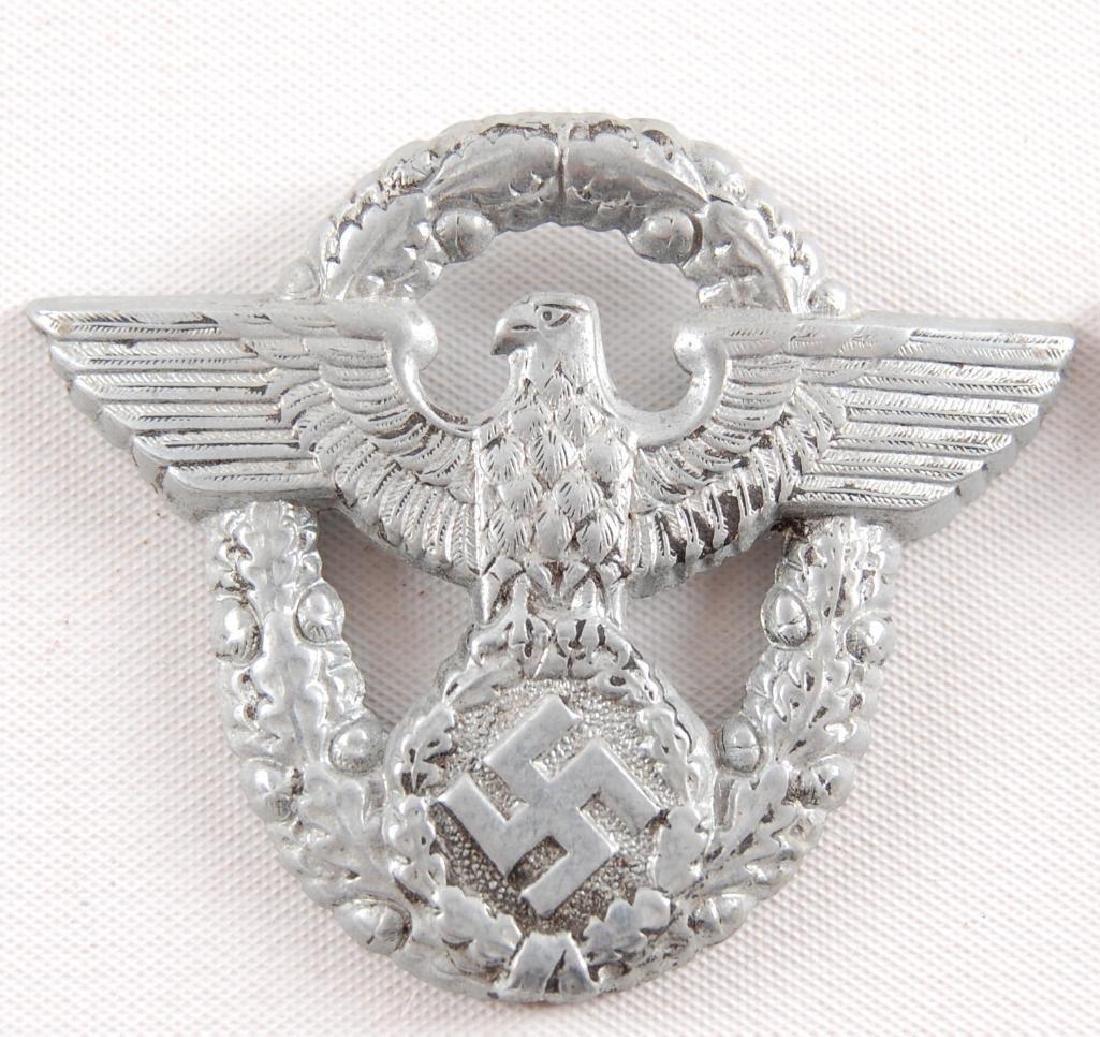 Group of 2 WW2 German Cap Eagle Badges - 3