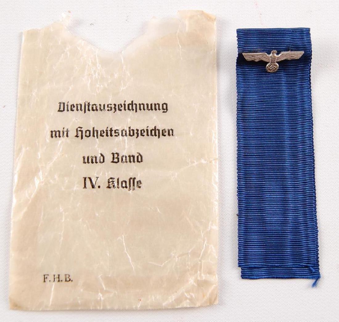 WW2 German Ribbon and Eagle with Original Wax Bag