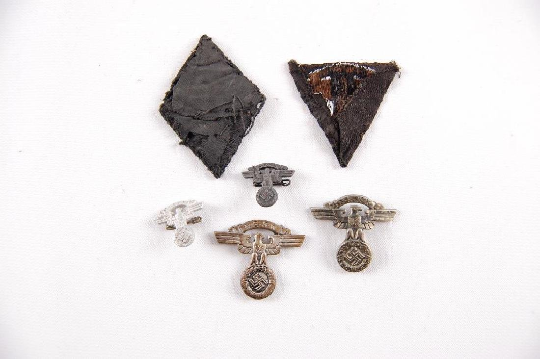 Group of WW2 German NSKK Patches and Pins - 2
