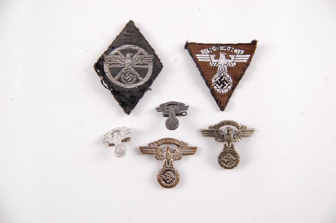 Group of WW2 German NSKK Patches and Pins - 3