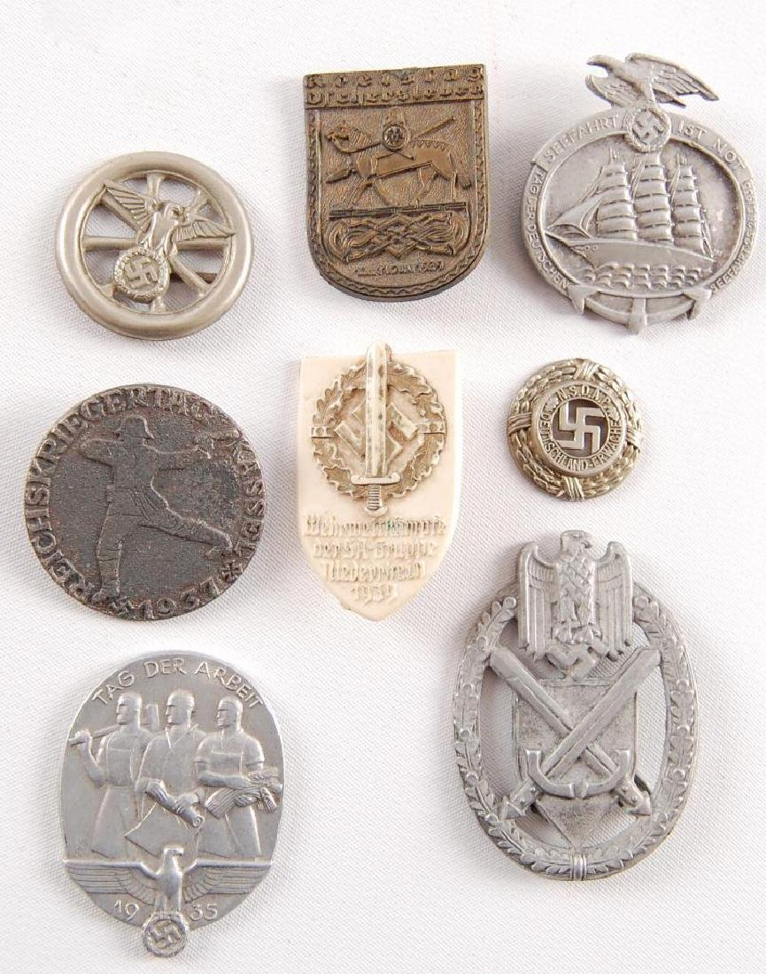 Group of 8 WW2 German Tinnies