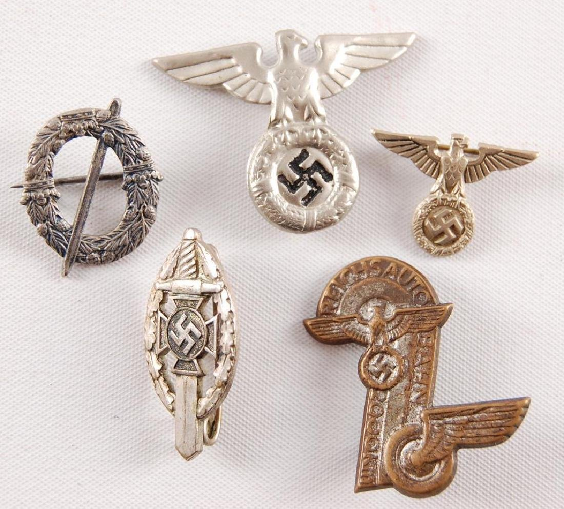 Group of 5 WW2 German Pins