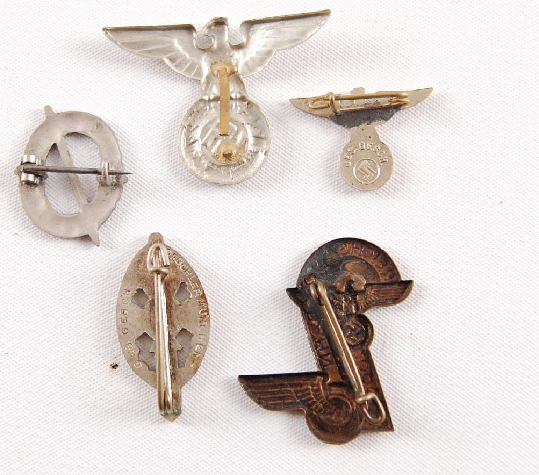 Group of 5 WW2 German Pins - 3