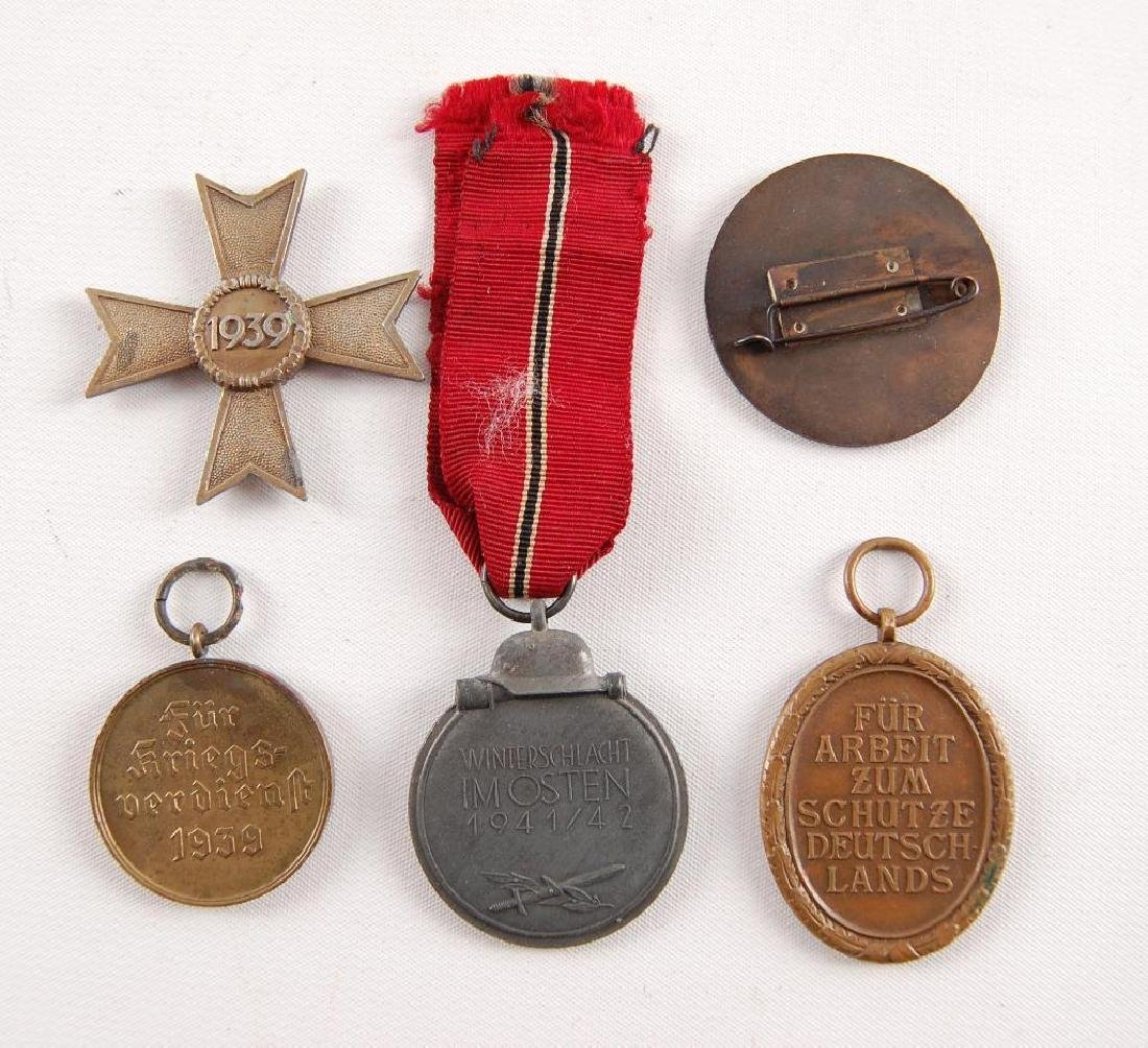 Group of 5 WW2 German Medals - 4
