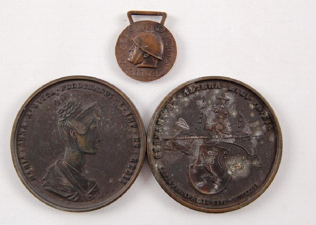 Group of 3 Itialian Table Medals and Medal