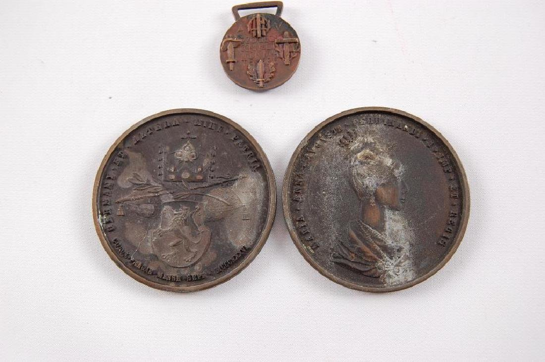 Group of 3 Itialian Table Medals and Medal - 4