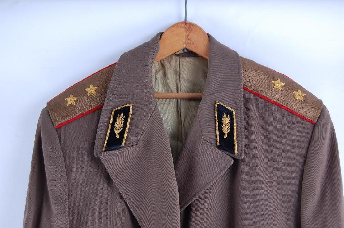 Vintage Communist Russia Over Coat with Belt, Shoudler - 2