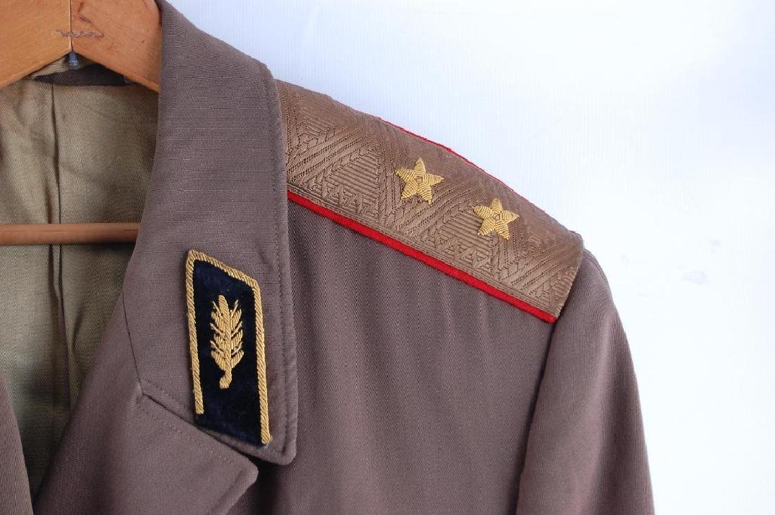 Vintage Communist Russia Over Coat with Belt, Shoudler - 3