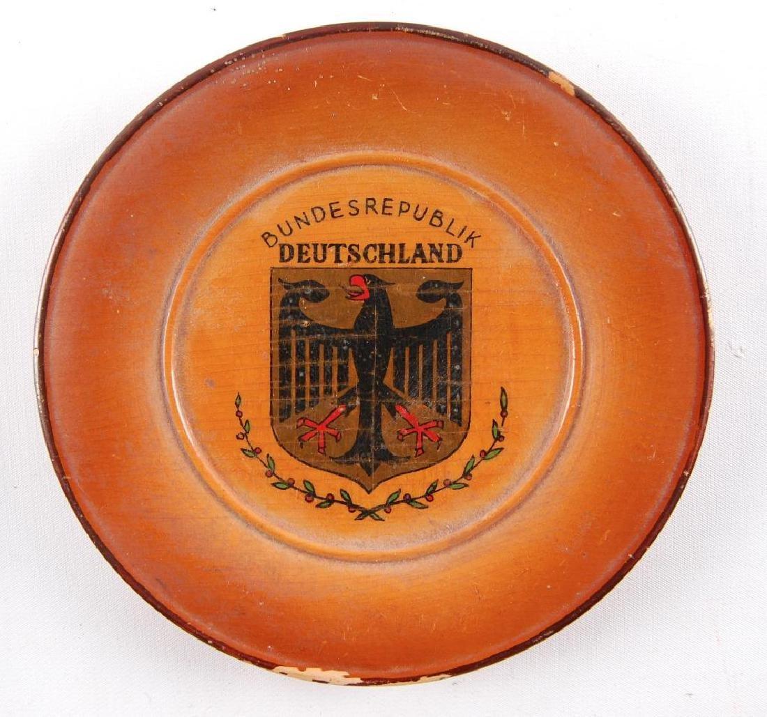 Vintage Bundesrepublik Deutschland Souvenir Wood Plate