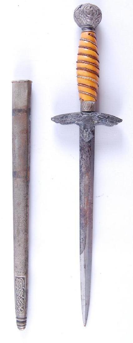 WW2 German Luftwaffe Dagger with Scabbard - 2