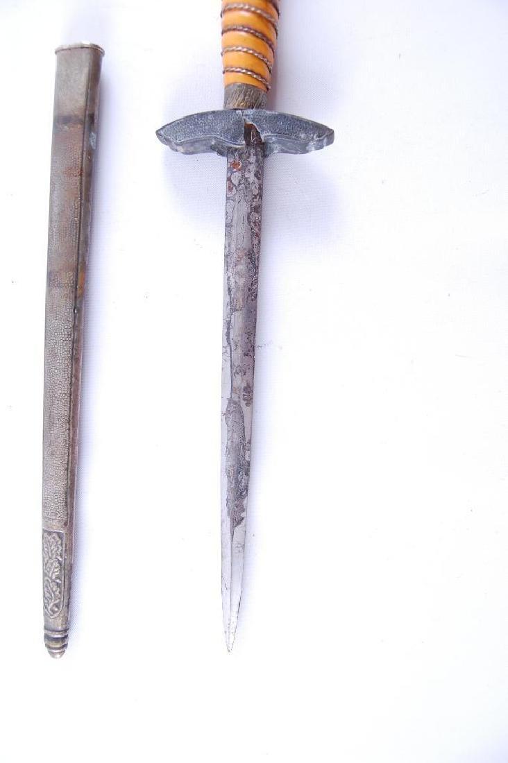 WW2 German Luftwaffe Dagger with Scabbard - 5