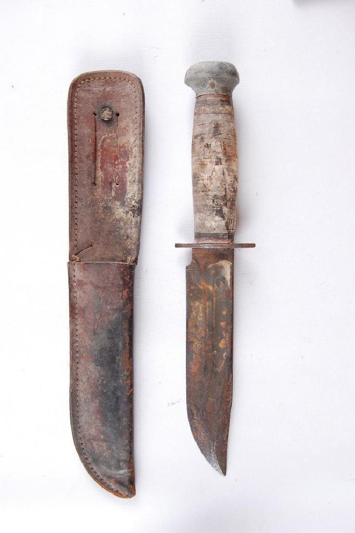 WW2 U.S. Army Pal RH36 Fighting Knife with Sheath - 2