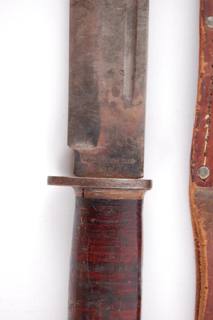 Original WW2 Fighting Knife with Leather Sheath - 3
