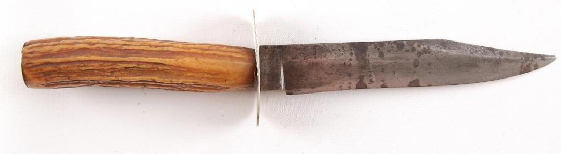 Antique Gold Miners Bowie Knife Used By George Secrest - 5