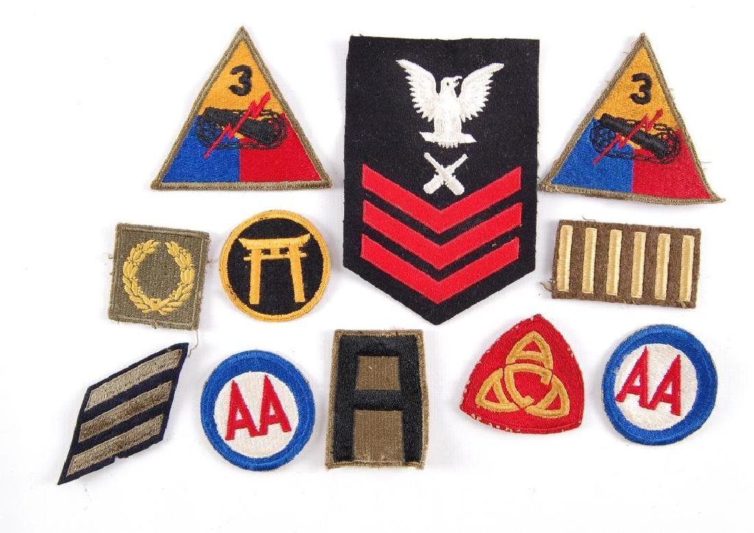 Group of 11 WW2 U.S. Military Patches