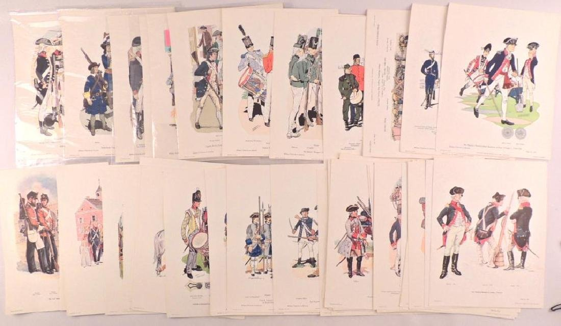 50 Company of Miltary Historian Colored Prints