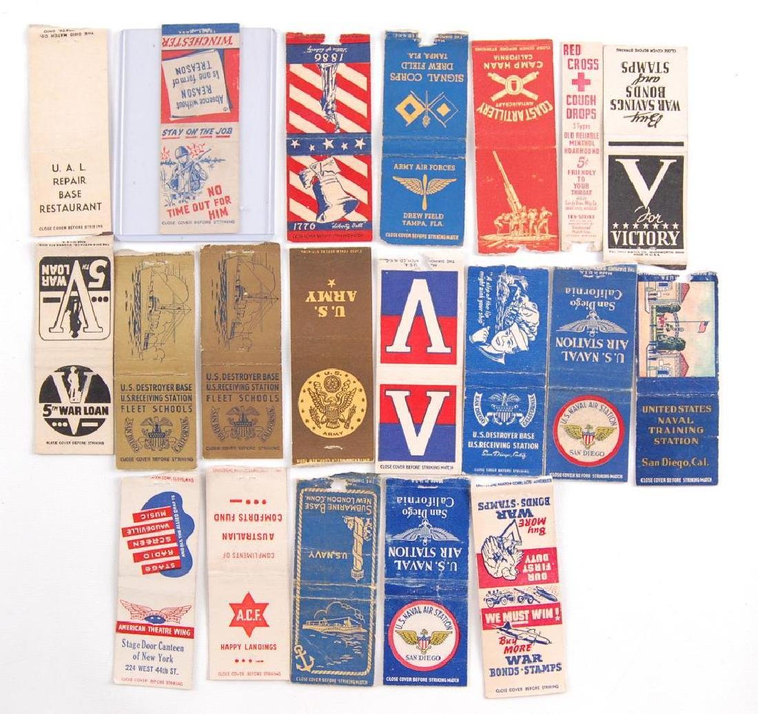 Group of 20 WW2 Patriotic Homefront Matchbook Coovers