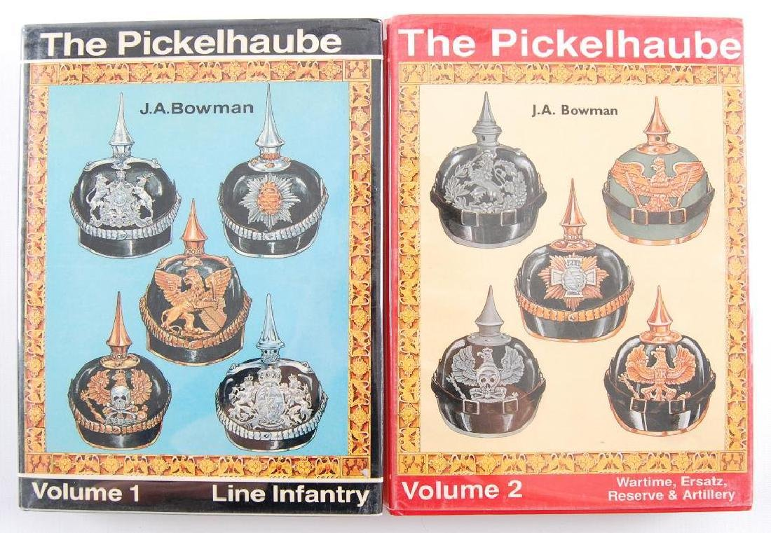 2 Volume Set of Pickelhaube Books by J.A. Bowman