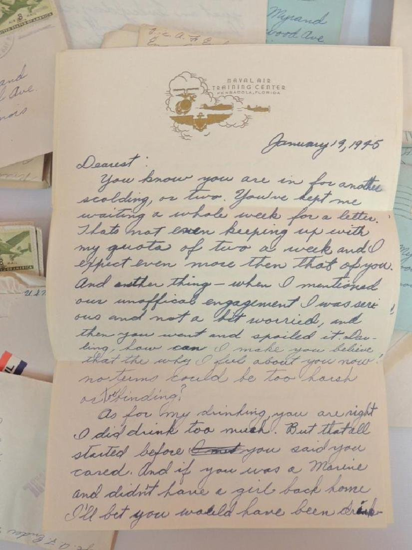 Large Group of WW2 Marine Corps Love Letters - 2