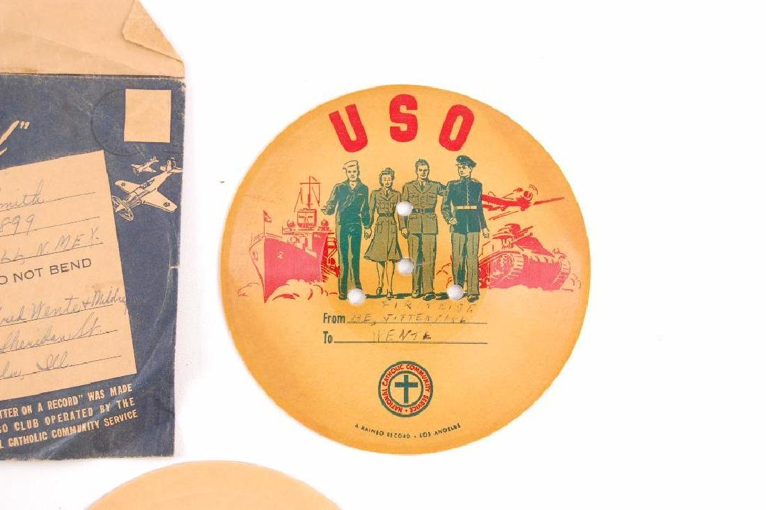 Group of 2 WW2 V-Disc Records Sent Home - 2