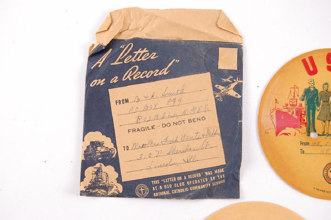 Group of 2 WW2 V-Disc Records Sent Home - 3