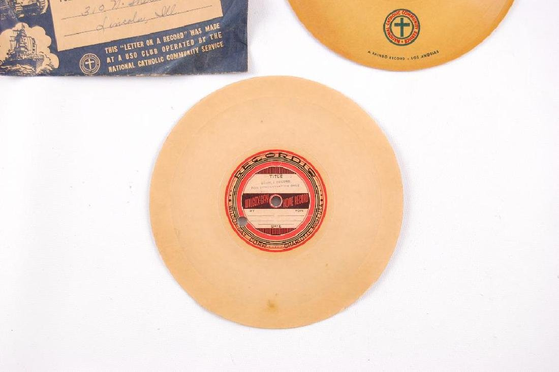 Group of 2 WW2 V-Disc Records Sent Home - 4
