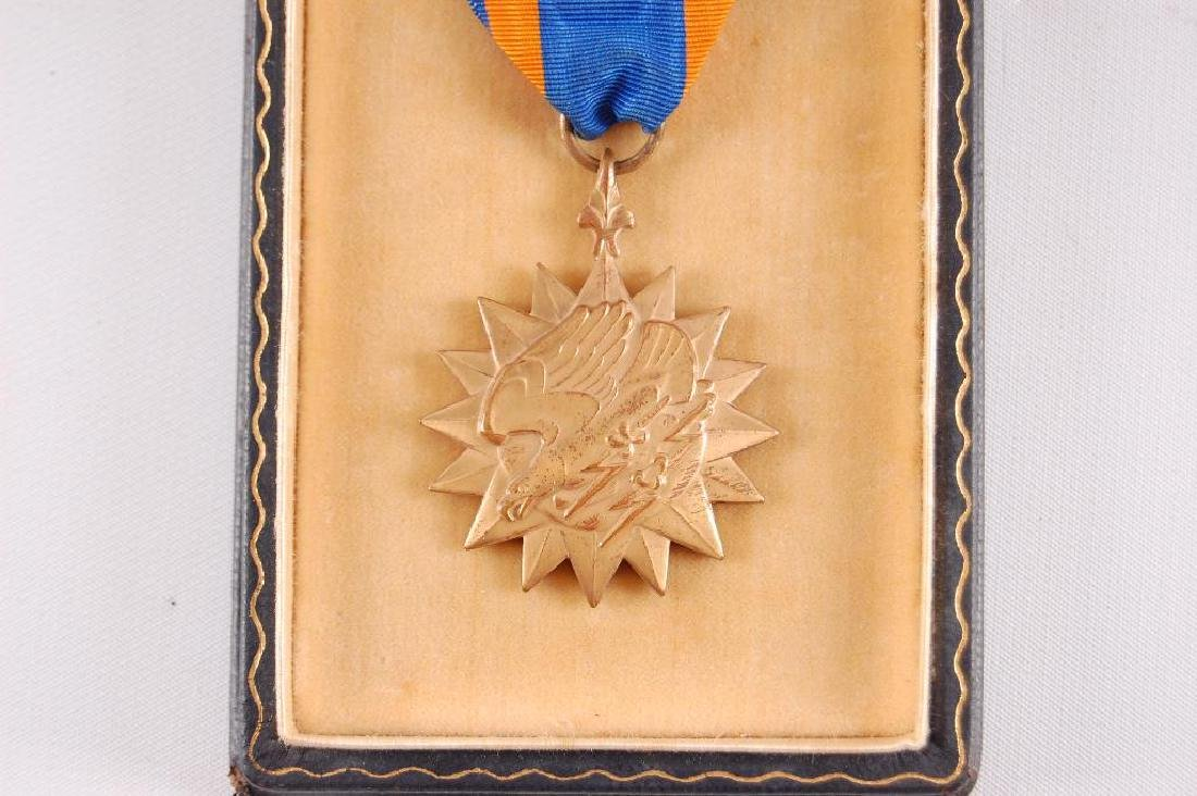WW2 Scarce Numbered Air Medal with Original Box - 2