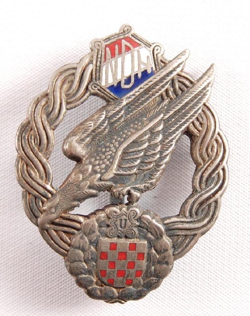 WW2 Croatian Paratrooper Badge