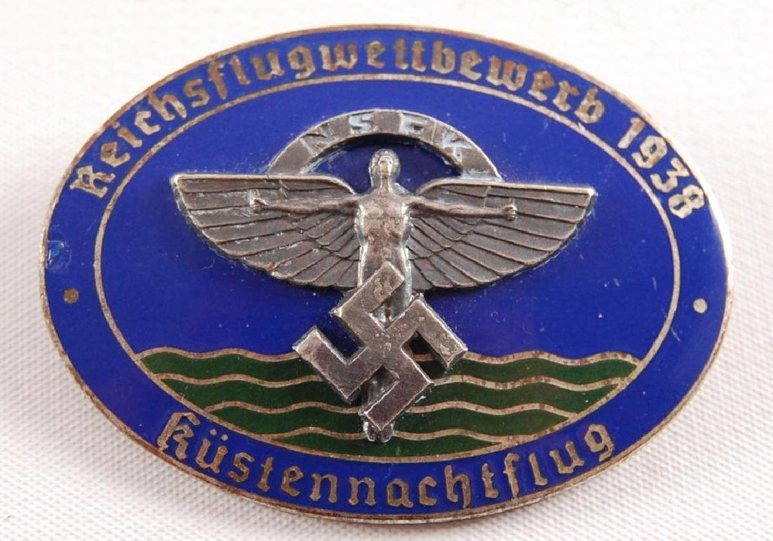WW2 German N.S.F.K. 1938 State Flying Competition Badge