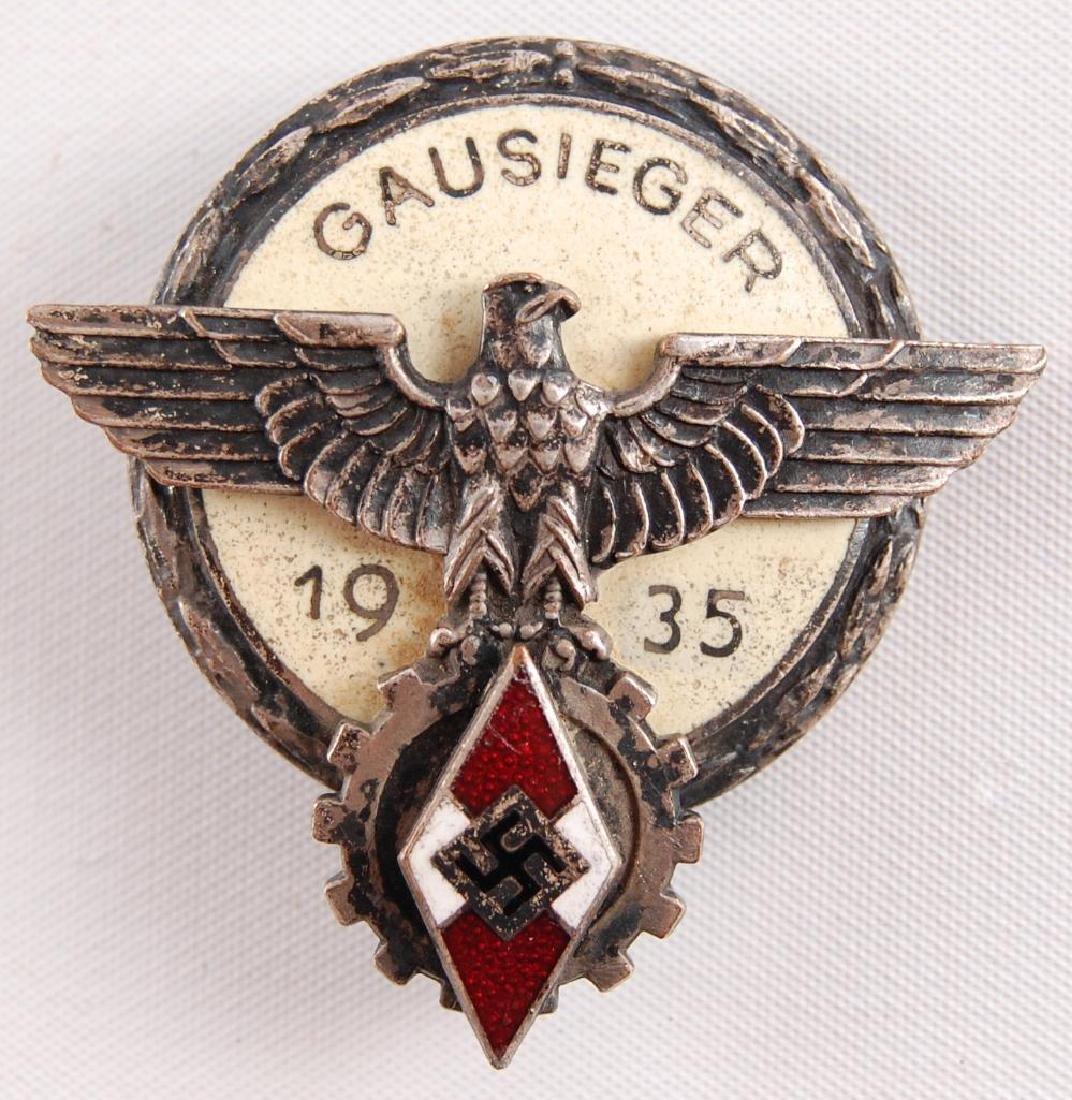 WW2 German Gausieger 1935 Hitler Youth Award Badge
