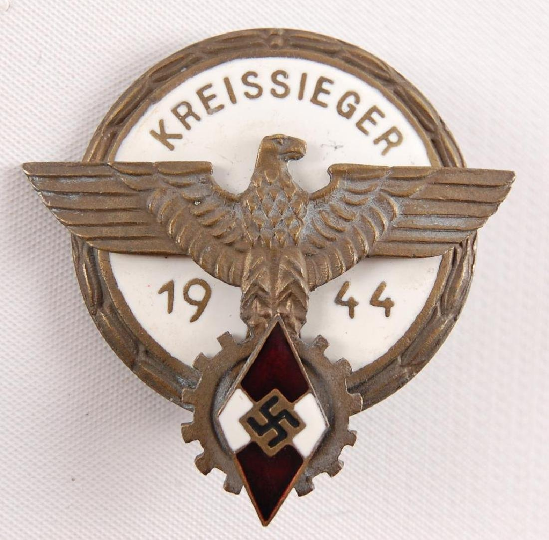 WW2 German Kreissieger 1944 Hitler Youth Award Badge