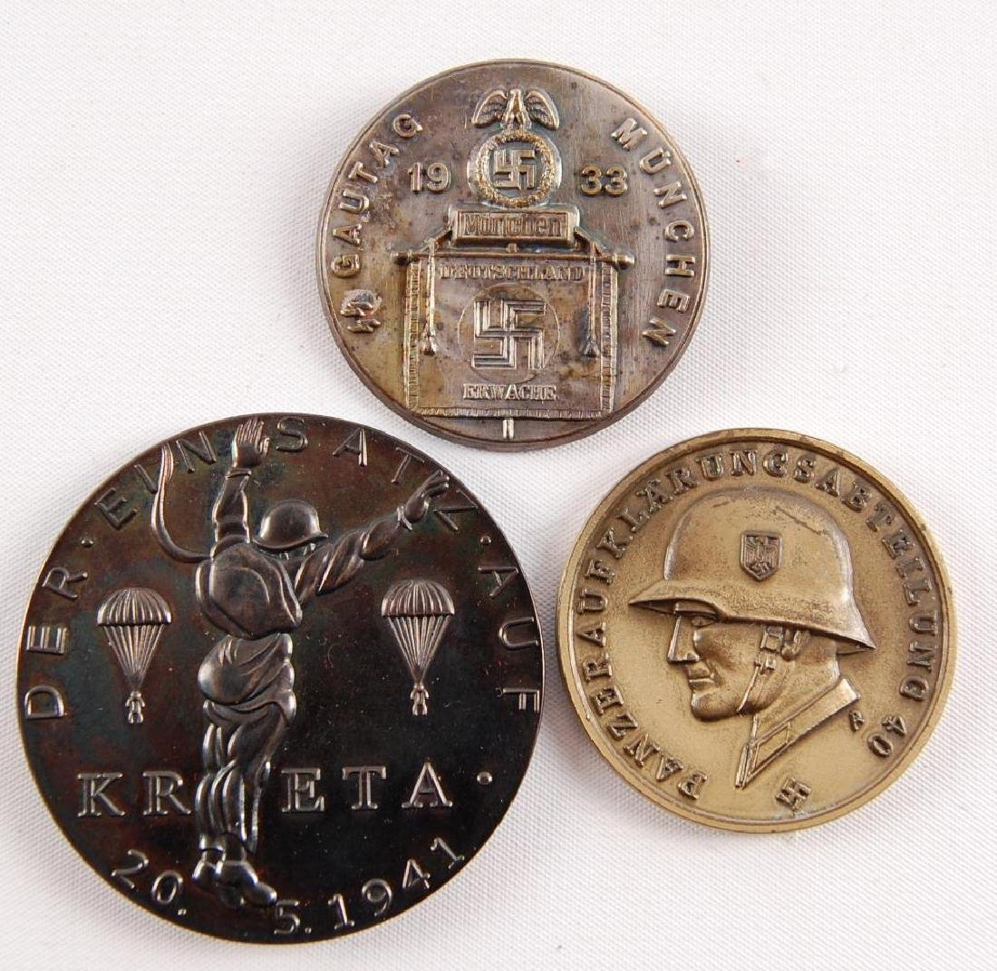 Group of 3 German Table Medals and Tinnie