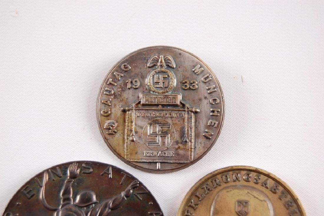 Group of 3 German Table Medals and Tinnie - 3